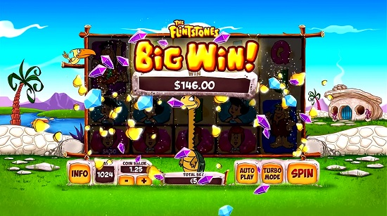 flintstones slot machine big win